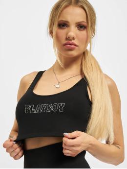 Playboy x DEF Topssans manche Outline noir