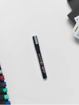 Posca Marker PC3M konische Spitze fein silvercolour strieborná