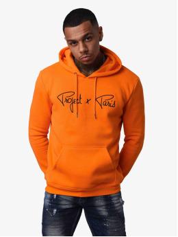 Project X Paris Bluzy z kapturem Logo  pomaranczowy