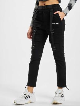 Project X Paris Pantalon cargo Pockets and Strap detail noir