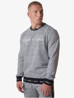 Project X Paris Pullover Check Pattern schwarz