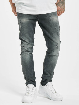 Project X Paris Skinny Jeans Skinny Distressed schwarz