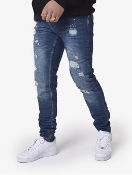 Project X Paris Slim Fit Jeans Slim  blauw