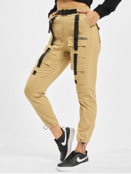 Project X Paris Spodnie Chino/Cargo Pockets and Strap detail  bezowy