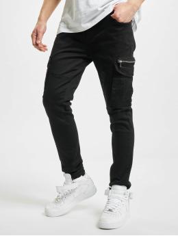Project X Paris Spodnie Chino/Cargo Patch Pockets czarny
