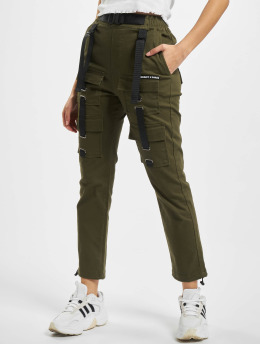 Project X Paris Spodnie Chino/Cargo Pockets and Strap detail  khaki