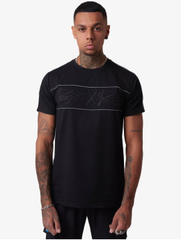 Project X Paris T-Shirty Reflect Piping czarny
