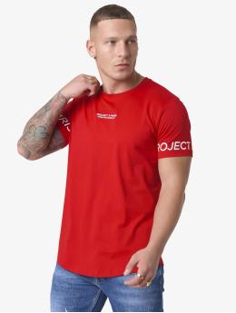 Project X Paris T-Shirty Logo Sleeve czerwony