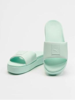 Puma Badesko/sandaler Platform Slide turkis