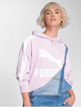 Puma Bluzy z kapturem Logo T7 fioletowy