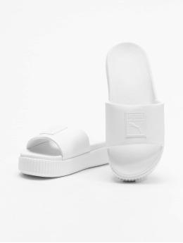 Puma Chanclas / Sandalias Platform Slide blanco