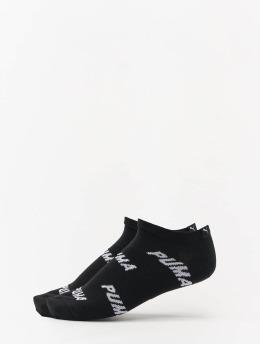 Puma Chaussettes All Over Logo 2 Pack noir