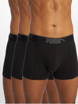 Puma Dobotex Boxerky Lifestyle Sueded Cotton 3P Box čern