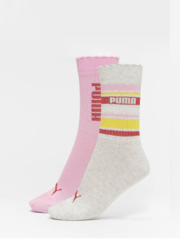 Puma Dobotex Socks Stripe 2 Pack pink