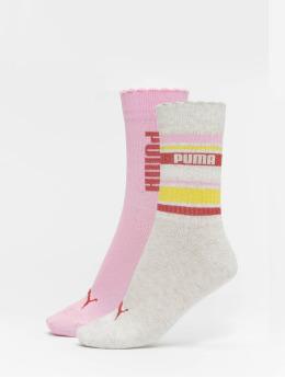 Puma Dobotex Sokken Stripe 2 Pack pink