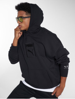 Puma Hoodies Downtown Oversize čern