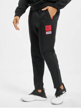Puma joggingbroek Colour Block Knitted zwart