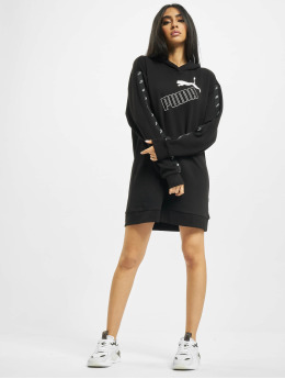 Puma Kleid Amplified Hooded  schwarz