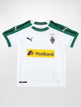 Puma Performance Fodboldtrøjer BMG Home Replica Sponsor Logo Jr hvid