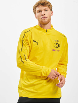 Puma Performance Maglietta a manica lunga BVB 1/4 Training giallo