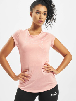 Puma Performance Shirts sportive Active Logo Heather rosa chiaro
