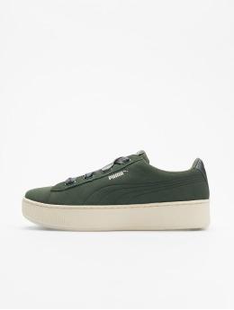 Puma Performance Sneaker Vikky Platform Ribbon grün