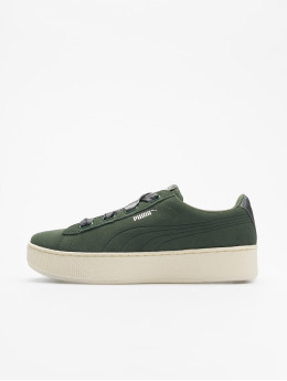 Puma Performance Sneakers Vikky Platform Ribbon zelená