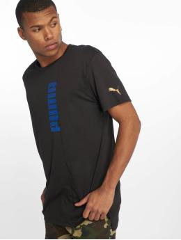 Puma Performance Sportshirts Triblend Graphic czarny