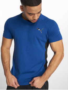Puma Performance Sportshirts Evostripe Warm niebieski