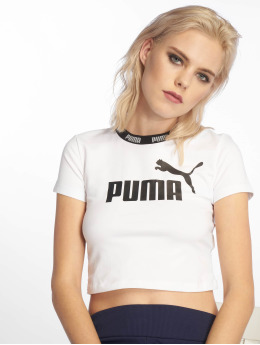 Puma Performance Sportshirts Amplified Cropped Tee  weiß