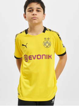 Puma Performance T-Shirt BVB Home Replica JR With Evonik Logo With Opel Logo  gelb