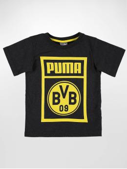 Puma Performance T-Shirt BVB Shoe Tag Jr grau