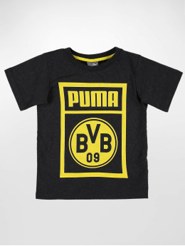 Puma Performance T-Shirt BVB Shoe Tag Jr  gray