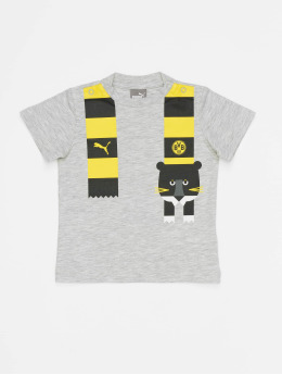 Puma Performance t-shirt  BVB Minicats Graphic grijs