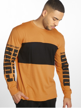 Puma Performance T-Shirt manches longues Rebel Up orange