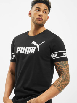 Puma Performance t-shirt Amplified Big Logo zwart