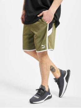 Puma shorts Iconic MCS 8` olijfgroen