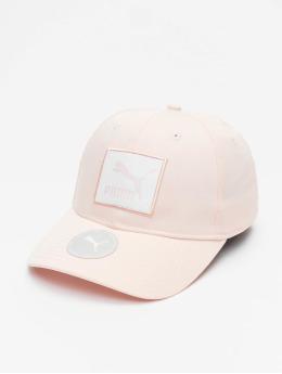 Puma Snapback Cap Archive Logo Label rosa