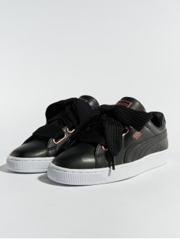 Puma Sneaker Basket Heart Leather schwarz