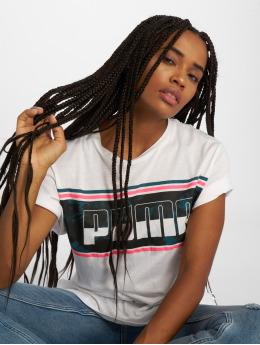Puma T-paidat Rebel Boyfriend Logo valkoinen