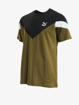 Puma t-shirt Iconic MCS olijfgroen