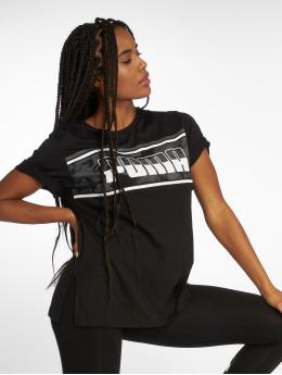 Puma Frauen T-Shirt Rebel Boyfriend Logo in schwarz