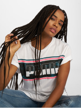 Puma t-shirt Rebel Boyfriend Logo wit