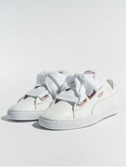 Puma Tennarit Basket Heart Leather valkoinen