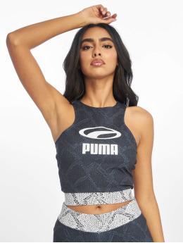 Puma Snake Pack Crop Top Puma Black