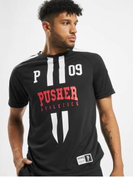 Pusher Apparel camiseta de fútbol Authentic Football negro