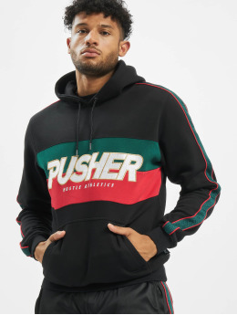 Pusher Apparel Felpa con cappuccio Hustle  nero