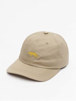 super popular b2af6 40136 Raised by Wolves Snapback Caps Restricted Dad beige