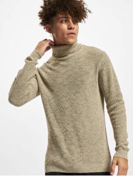 Redefined Rebel Sweat & Pull RROliver Roll Neck Knit  beige