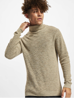 Redefined Rebel Swetry RROliver Roll Neck Knit  bezowy